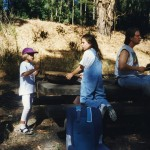 1995: Linda & Charlie's kids with nagara drum