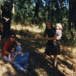 1995: Carson, John, Linda & child, Quinn with Scott