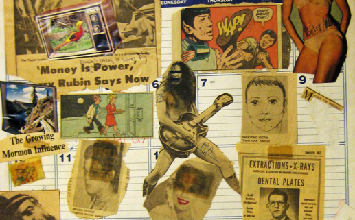 Calendar collage by Max and Mark, 1980