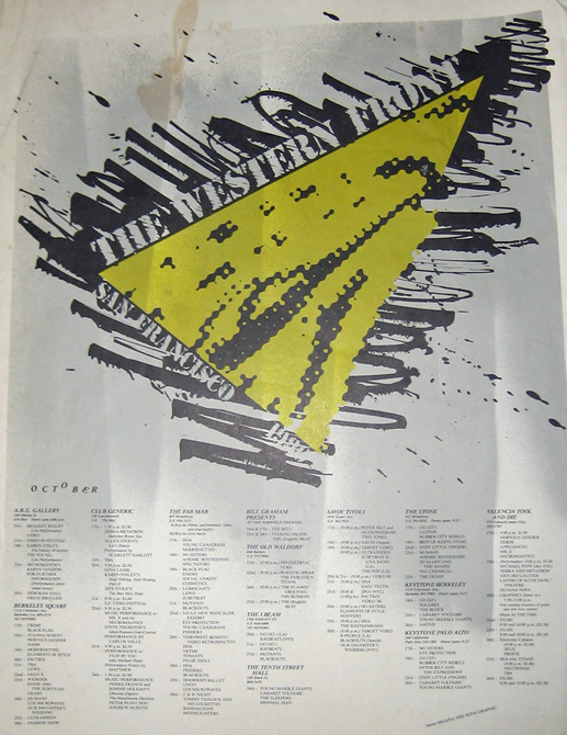 "18"" x 24"" poster for the Western Front festival, San Francisco, October 1980"
