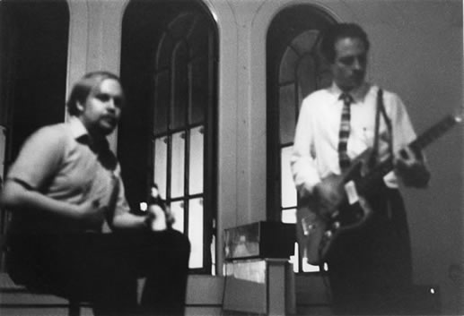 Jon and Max performing in the Terra Incognita loft, 1982