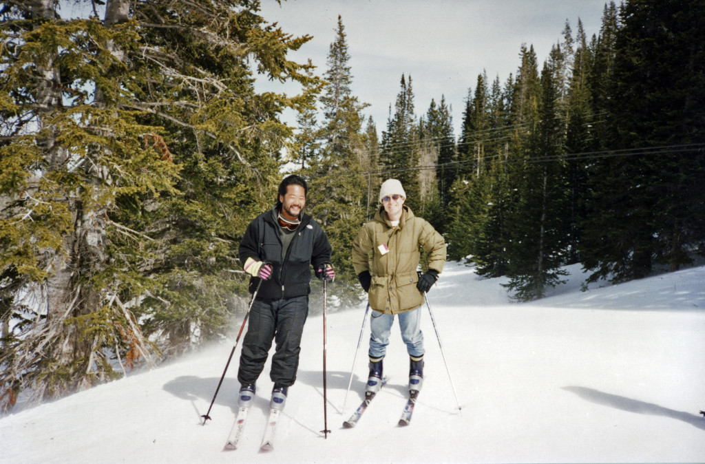 At Park City in 1995, fresh from his first ski lessons and devoid of any fashionable ski wear, Max sets out with veteran skier Ken