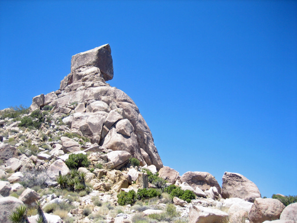 My mountain range is known for its granite pinnacles which provide distinctive landmarks on the ridgetops