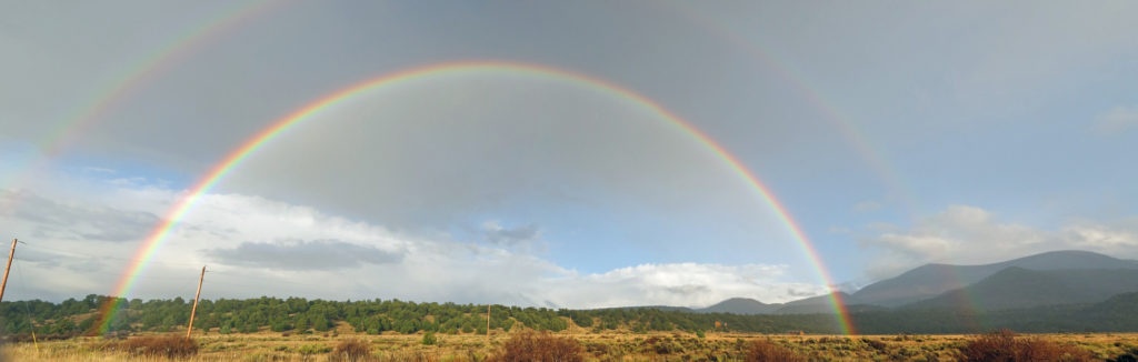 Double rainbow at Escudilla Mountain