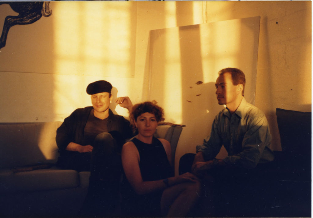 Remaining loftmates John, Katie, and Max in shock from the loss of their roommate Laurie, September 1987